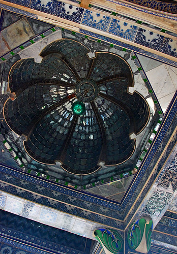 Mirrored ceiling in Udaipur Palace, India