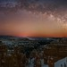 Bryce Canyon Milky Way Arch Pano by PdXBenedetti