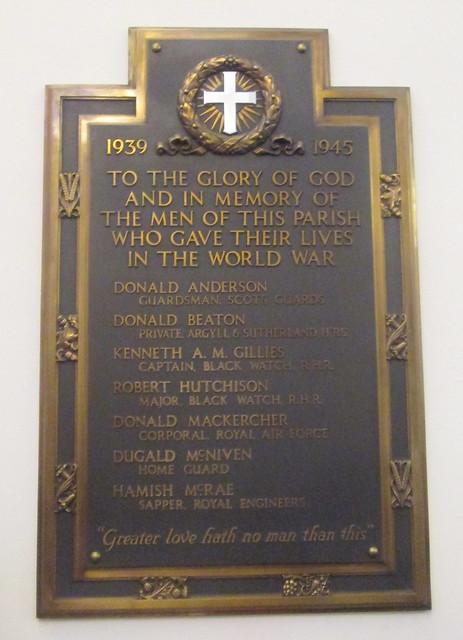 Kenmore Church War Memorial