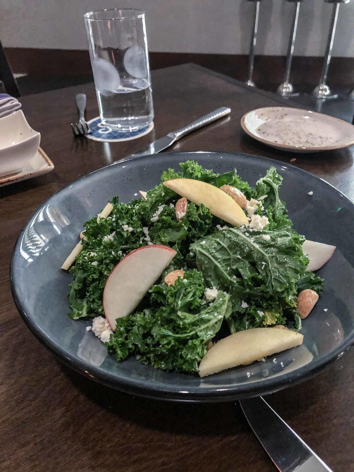 cedar + stone torn kale salad