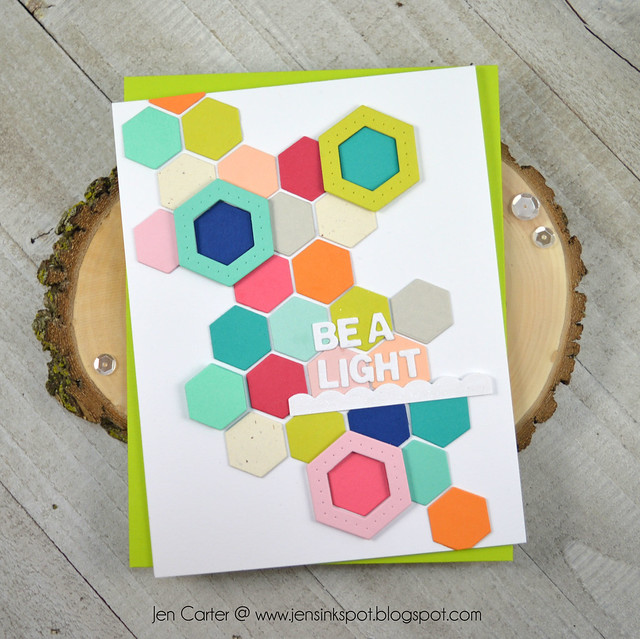Jen Carter Winnie Walter Josephine Hexagons Holiday Tiles Be Light
