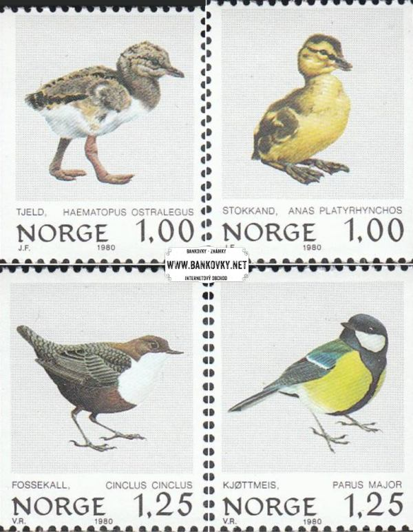 Známky Nórsko 1980 Vtáci, nerazítkovaná séria