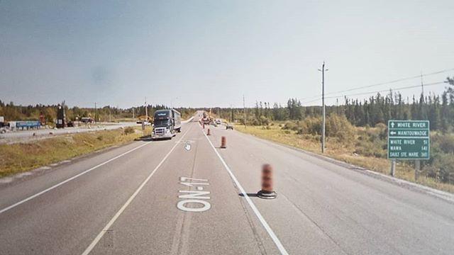 White River 51 km, Wawa 141, Sault Ste. Marie is a blur. #ridingthroughwalls #xcanadabikeride #googlestreetview #ontario