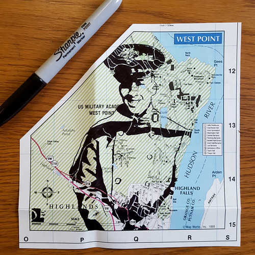 West Point Cadet Map Portrait by Dan Landau