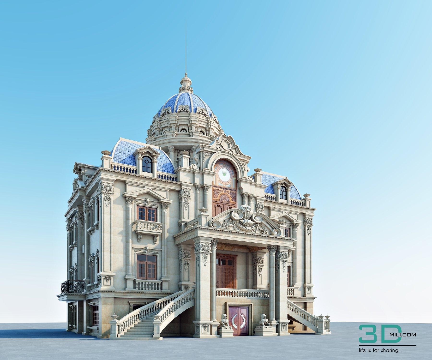 07   Sketchup Scenes File 07 - 3D Mili - Download 3D Model
