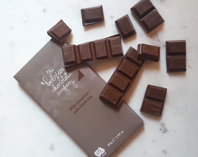 The Belgian Chocolate Company Milk Chocolate with Black Tea bar