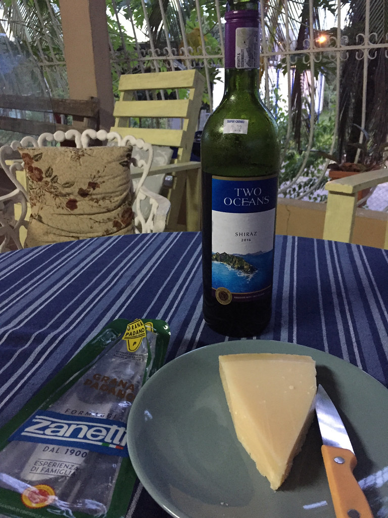 Two Oceans Shiraz and Zanetti Grana Padano 1