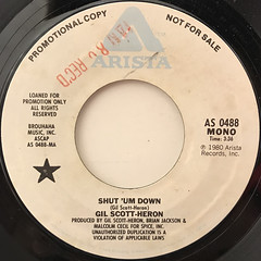 GIL SCOTT-HERON:SHUT 'UM DOWN(LABEL SIDE-B)