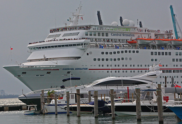 Cruise Ship, Carnival Sensation, Leaving the Port Of Miami (2 of 4)