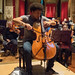 10 DSCN0111c Sheku Kanneh-Mason rehearsing the Elgar Cello Concert with Ealing Symphony Orchestra. Leader Peter Nall. Conductor John Gibbons 3rd March 2018 (Photo Lucy Robinson)