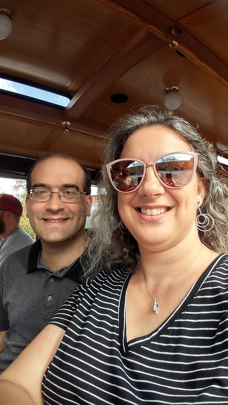 On the trolley for the tour