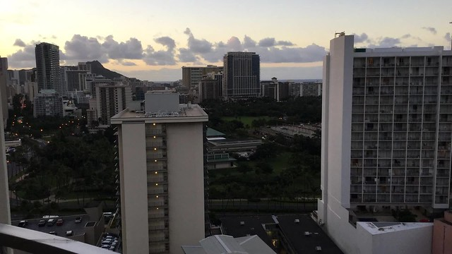 Sunrise and Diamond Head