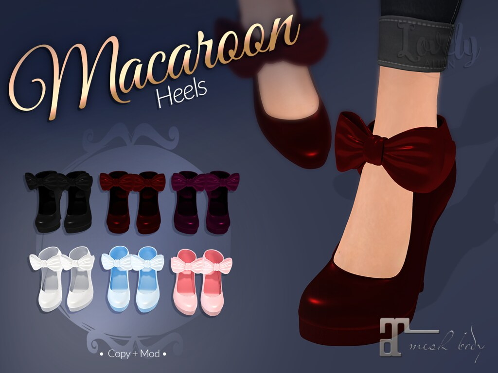 Macaroon Heels For: SaNaRae - TeleportHub.com Live!
