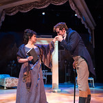 Sense and Sensibility at the Arvada Center - Regina Fernandez (Marianne Dashwood) and Geoffrey Kent (Colonel Brandon) Matt Gale Photography 2018