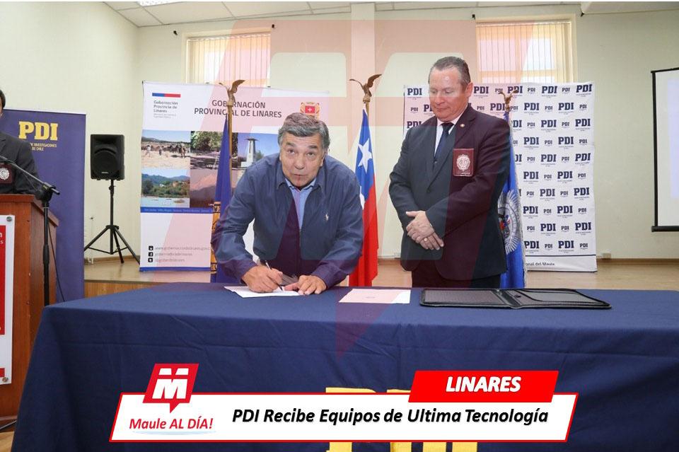 LINARES; PDI Recibió Equipos Tecnológicos para las investigaciones ligadas al Abigeato