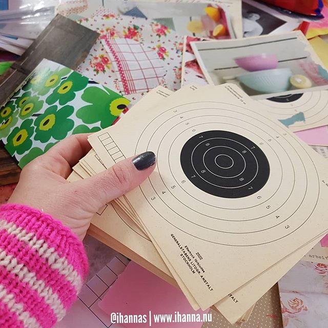My canvas are these vintage target practice circles, photo by Hanna Andersson aka iHanna #365somethings2018