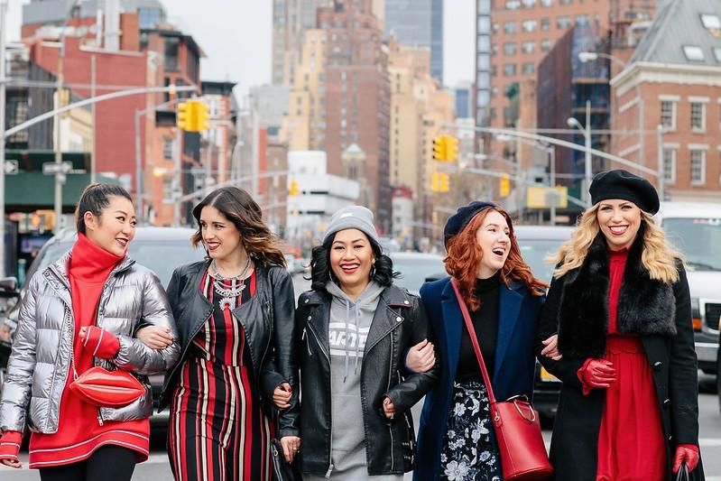 New York City NYC Middle of Street Walking Fashion Street Style NYFW Fashion Week