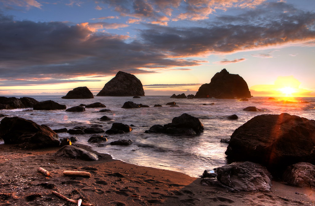 Sunset, Redwood National Park
