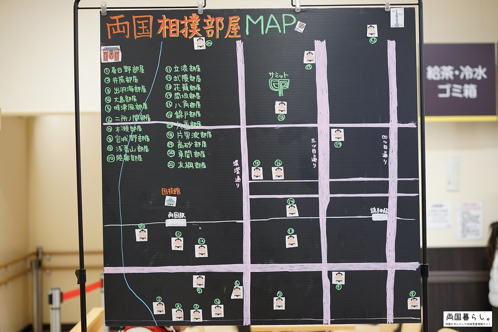 領国相撲部屋マップ