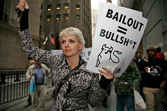 Protest on Wall Street against bailout