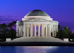 Dawn at the Jefferson Memorial