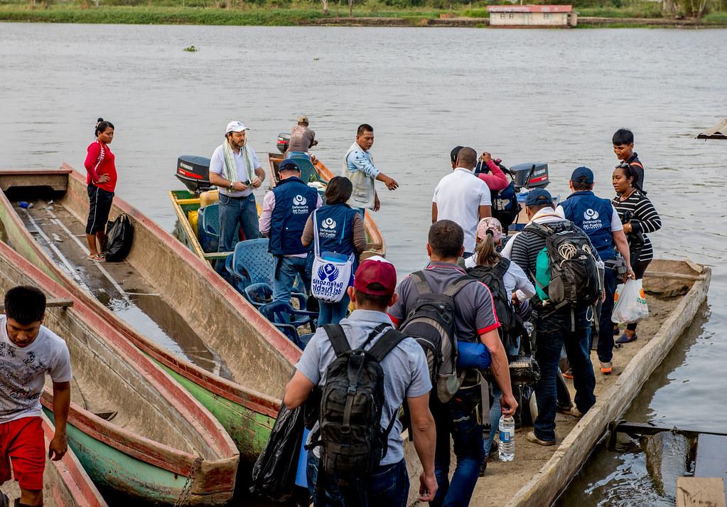 Visita de verificación por la cuenca del río Truandó, en Chocó