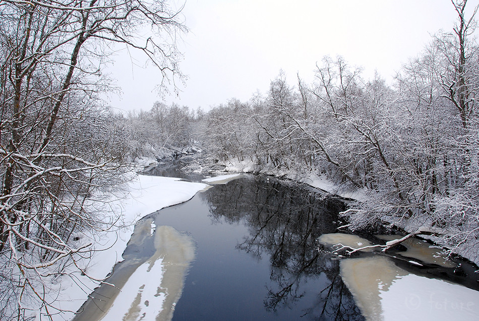 Winter, river, Estonia, Kaido Rummel