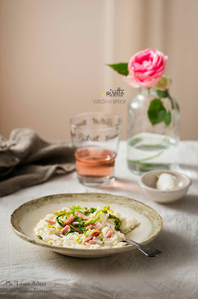 Risotto with cabbage and speck