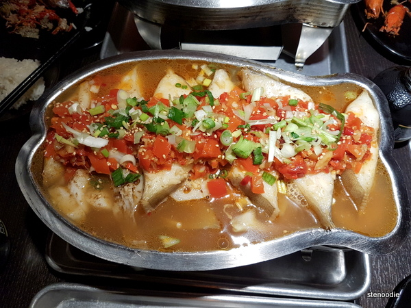 Special Cod Fillets in Chopped Chili broth