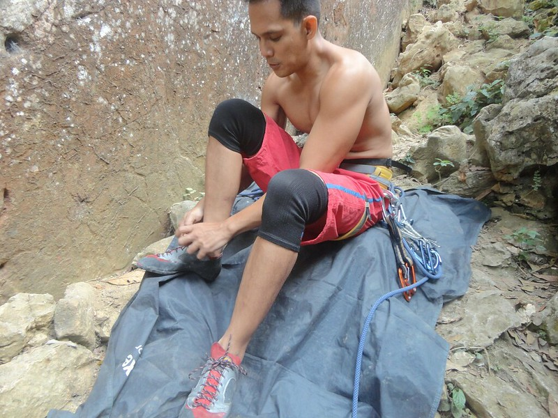 rock climbing chalkbag