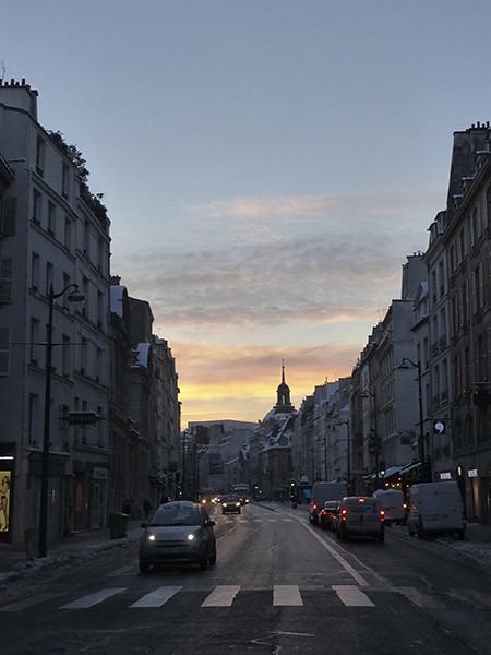 lever de soleil rue de Rivoli