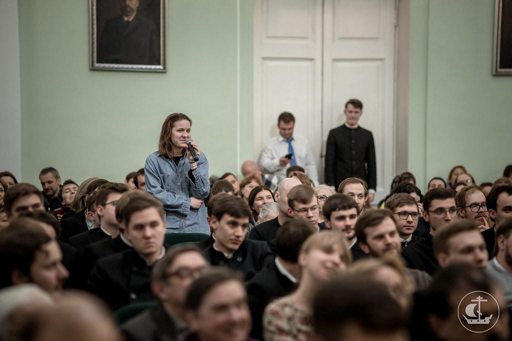 6 марта 2018, Писатель Е.Водолазкин в Академии / 6 March 2018, The writer E.Vodolazkin in the Saint-Petersburg Theological Academy