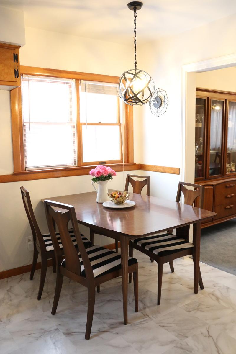kitchen-nook-dining-set-black-white-stripe-chairs-6