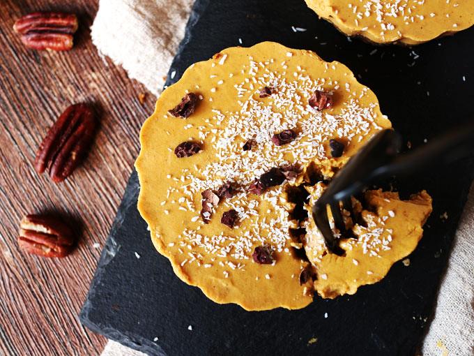 迷你椰香南瓜派 (全素,無麵粉,無堅果) mini-coconut-pumpkin-pie (7)