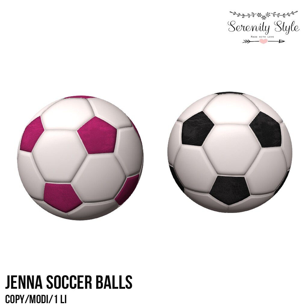 Serenity Style-Jenna Soccer Balls GROUP GIFT - TeleportHub.com Live!