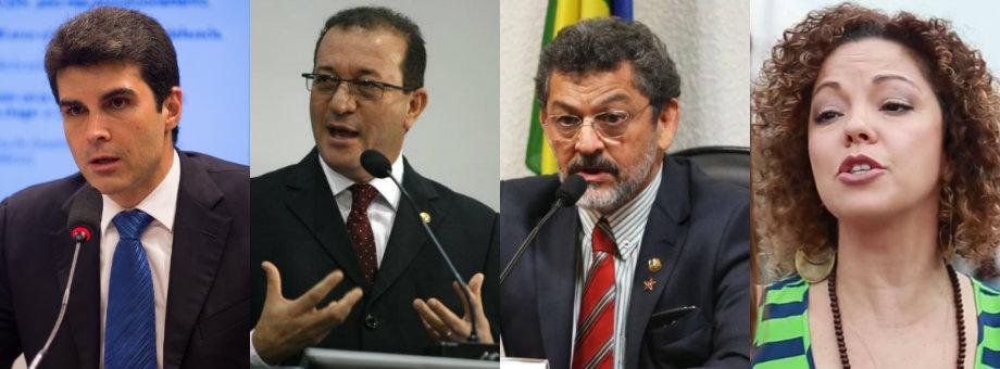 Helder lidera a 1ª pesquisa da Doxa registrada no TRE; Márcio Miranda aparece em 2º, Candidatos ao governo do PA: Helder, Márcio, Rocha e Úrsula