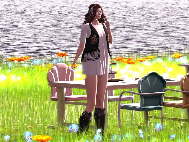 Prism Queta Fringe Vest, Mini Dress & Boots Sets by Jezzixa