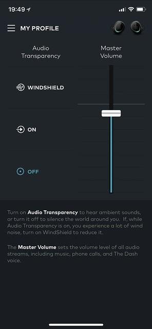 Bragi iOS App - Sound