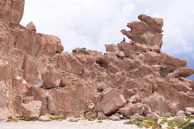 岩があったら登りたい