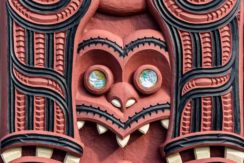 Carving at Mataatua Wharenui