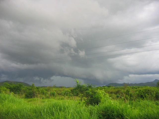 tormenta entre Arriaga y Cintalapa, Chiapas