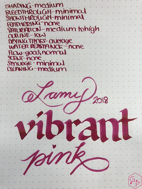 Ink Shot Review @LAMY Vibrant Pink 2018 Ink @laywines 6