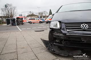 Verkehrsunfall Biebricher Allee/2. Ring 28.01.18