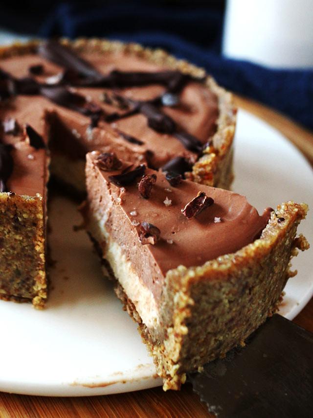 全素雙層巧克力香草乳酪蛋糕 vegan-double-chocolate-vanilla-cheesecake (7)