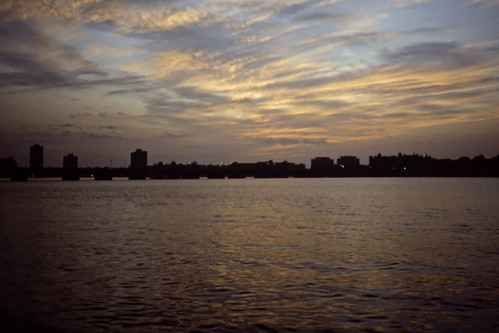 Twilight on the Charles River - Kodachrome - 1987