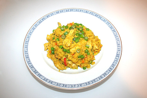43 - Curry rice with chicken - Served / Curryreis mit Huhn - Serviert