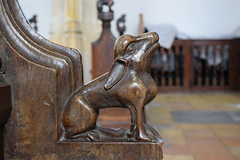 bench end: rabbit (15th Century)