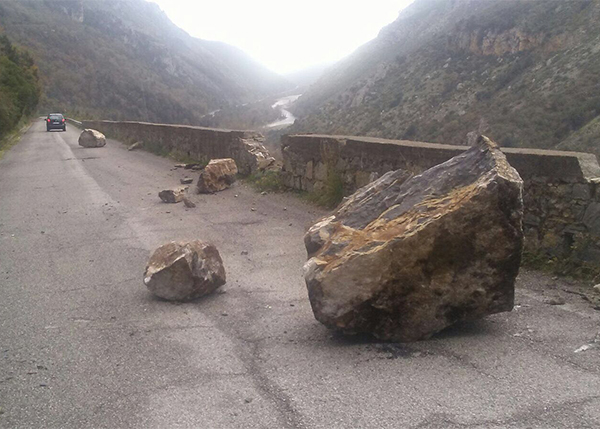 Caduta rocce Camerota 17-01-18