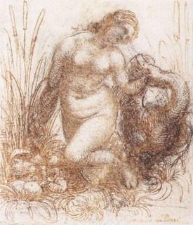 davinci-paintings-Study_for_a_kneeling_Leda_-_WGA12756