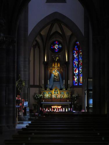 20140804 02 482 Jakobus Marienthal Kirche Maria Statue Spitzbögen